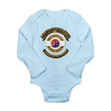 Medical Command Korea with Text Long Sleeve Infant