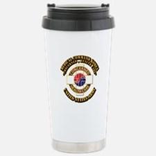Medical Command Korea with Text Travel Mug