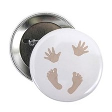 """Adorable Baby Hand and Feet 2.25"""" Button"""