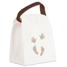 Adorable Baby Hand and Feet Canvas Lunch Bag