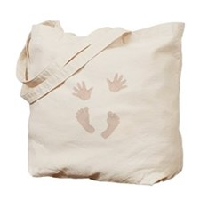 Adorable Baby Hand and Feet Tote Bag