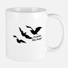 Personalized Divergent Raven Mugs
