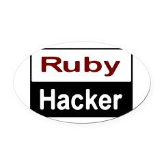 Ruby hacker Oval Car Magnet