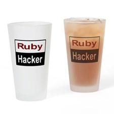 Ruby hacker Drinking Glass