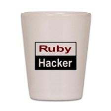Ruby hacker Shot Glass