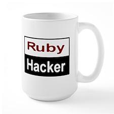 Ruby hacker Large Mug