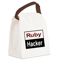 Ruby hacker Canvas Lunch Bag