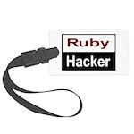 Ruby hacker Large Luggage Tag