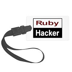 Ruby hacker Luggage Tag