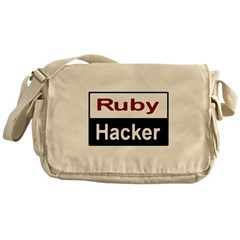 Ruby hacker Messenger Bag