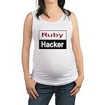 Ruby hacker Maternity Tank Top