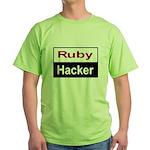 Ruby hacker Green T-Shirt