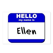 hello my name is ellen  Postcards (Package of 8)
