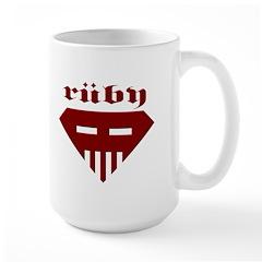 Speed-metal Ruby Large Mug