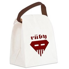 Speed-metal Ruby Canvas Lunch Bag