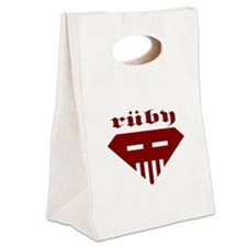 Speed-metal Ruby Canvas Lunch Tote