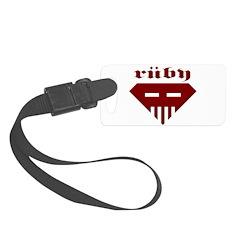 Speed-metal Ruby Luggage Tag