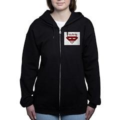 Speed-metal Ruby Women's Zip Hoodie