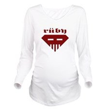 Speed-metal Ruby Long Sleeve Maternity T-Shirt