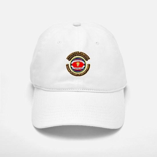 USMC - 1st Dental Company with Text Baseball Baseball Cap
