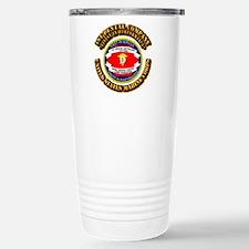 USMC - 1st Dental Company with Text Travel Mug