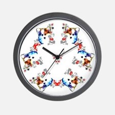 Way too cute Corgi Heart Wall Clock