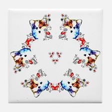 Way too cute Corgi Heart Tile Coaster