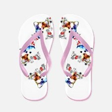 Way too cute Corgi Heart Flip Flops