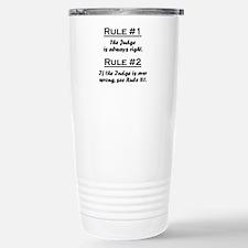 Funny Judge Travel Mug