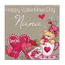 Valentines Day Nana Tile Coaster