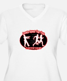 Zombies Against Fast Food (red) Plus Size T-Shirt