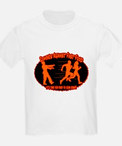 Zombies Against Fast Food (orange) T-Shirt