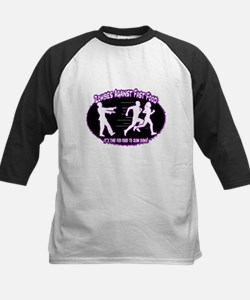 Zombies Against Fast Food (purple) Baseball Jersey