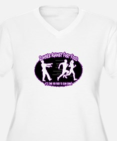 Zombies Against Fast Food (purple) Plus Size T-Shi