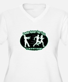 Zombies Against Fast Food (green) Plus Size T-Shir
