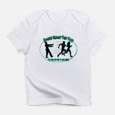 Zombies Against Fast Food (blue1) Infant T-Shirt