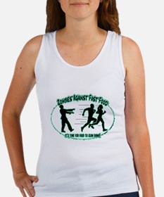 Zombies Against Fast Food (blue1) Tank Top