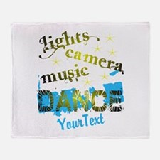 CUSTOMIZE Text Dance Throw Blanket