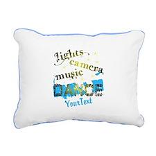 CUSTOMIZE Text Dance Rectangular Canvas Pillow
