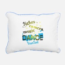 CUSTOMIZE Text Dance Rectangular Canvas Pillow