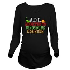 Funny Dinosaur Long Sleeve Maternity T-Shirt