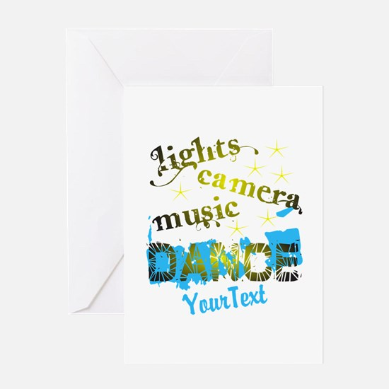 CUSTOMIZE Text Dance Greeting Card
