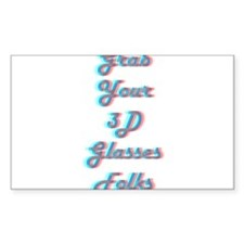 Grab Your 3D Glasses Decal