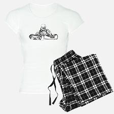 Kart Racing in Black and White Pajamas