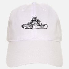 Kart Racing in Black and White Baseball Baseball Baseball Cap