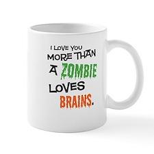 ZombieBrainsWhtTee Mugs