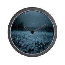 Rain IV Wall Clock