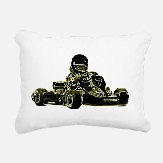 Kart Racing Black White and Green Rectangular Canv