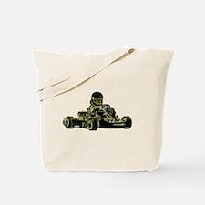 Kart Racing Black White and Green Tote Bag