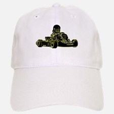 Kart Racing Black White and Green Baseball Baseball Baseball Cap